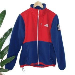The North Face Blue Red Denali Fleece Jacket M